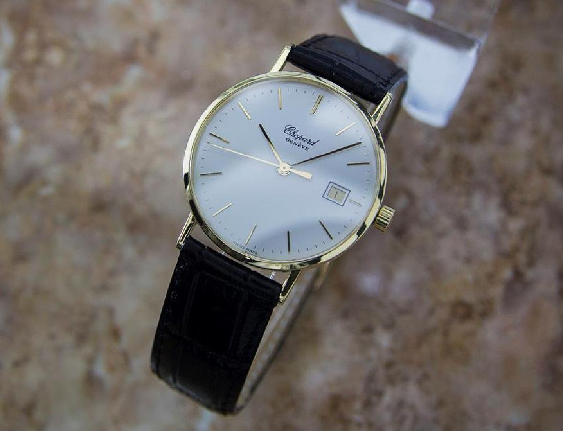 Chopard 18k Solid Gold Mens 1980s Quartz Watch - 2