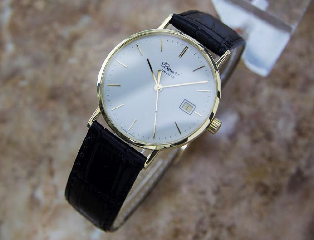 Chopard 18k Solid Gold Mens 1980s Quartz Watch - 3