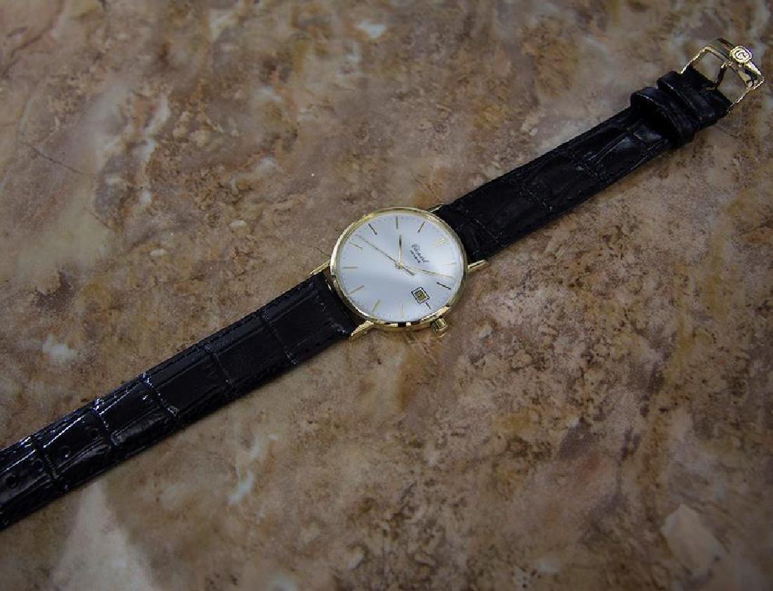 Chopard 18k Solid Gold Mens 1980s Quartz Watch - 6