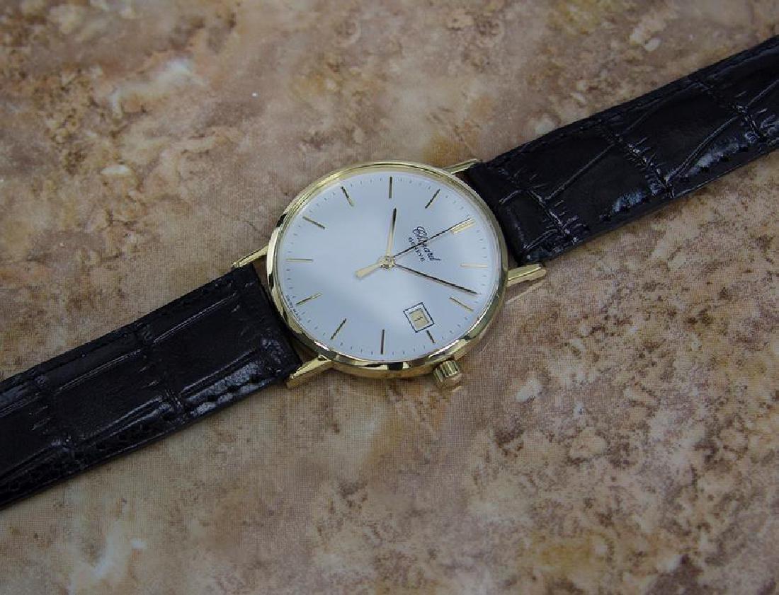 Chopard 18k Solid Gold Mens 1980s Quartz Watch - 7