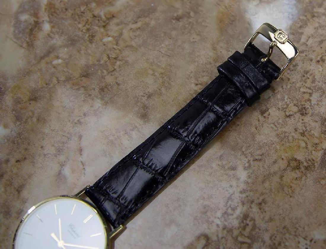 Chopard 18k Solid Gold Mens 1980s Quartz Watch - 8