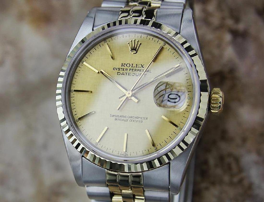 Rolex Quickset Datejust Gold Steel 1982 Automatic Watch