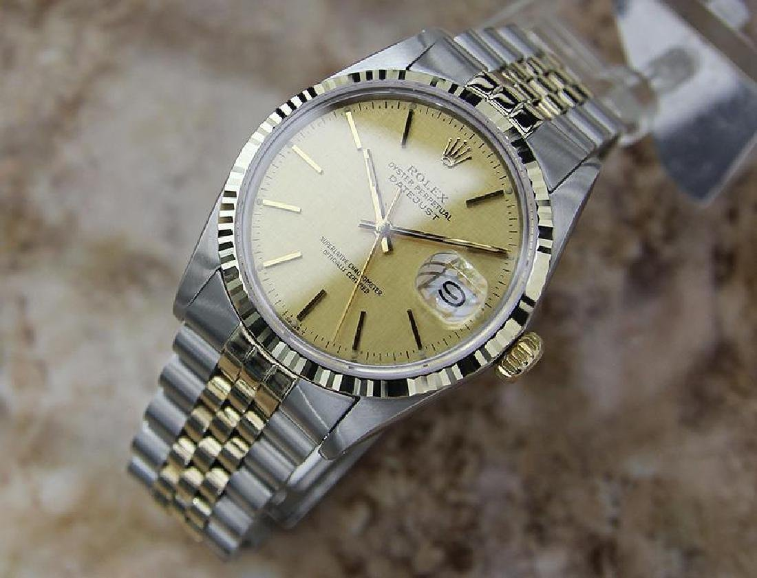Rolex Quickset Datejust Gold Steel 1982 Automatic Watch - 2