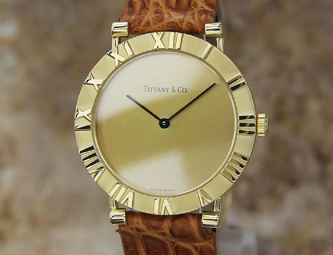 Tiffany & Co Atlas Luxury 18k Solid Gold Men's Watch