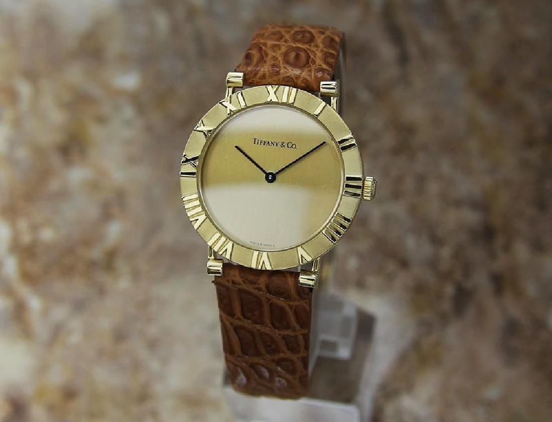 Tiffany & Co Atlas Luxury 18k Solid Gold Men's Watch - 2
