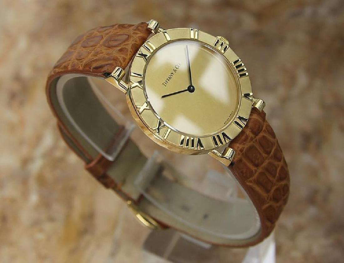 Tiffany & Co Atlas Luxury 18k Solid Gold Men's Watch - 3
