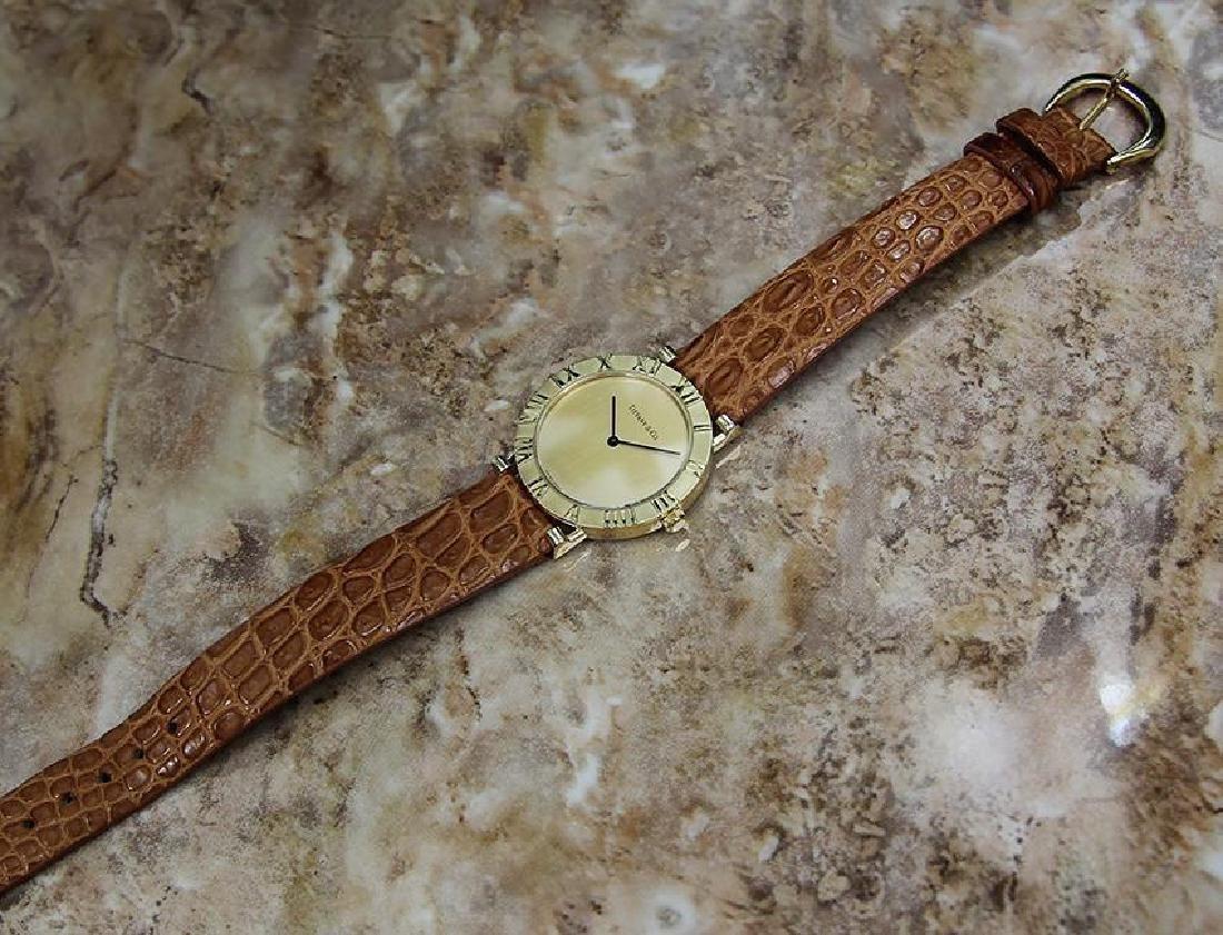 Tiffany & Co Atlas Luxury 18k Solid Gold Men's Watch - 5