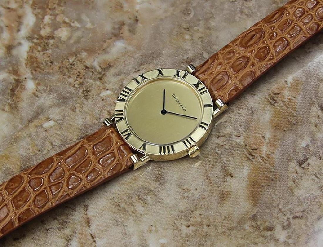 Tiffany & Co Atlas Luxury 18k Solid Gold Men's Watch - 6