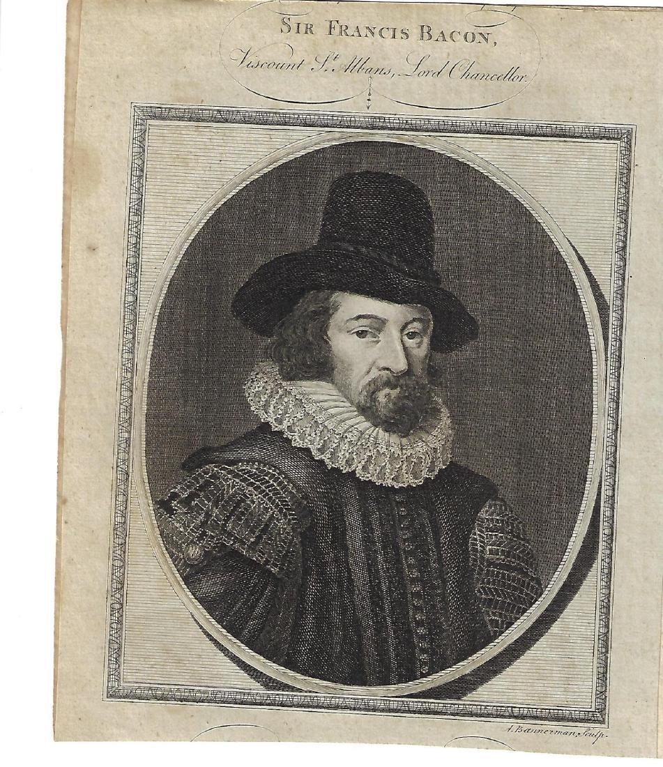 1786 Engraving of Sir Francis Bacon
