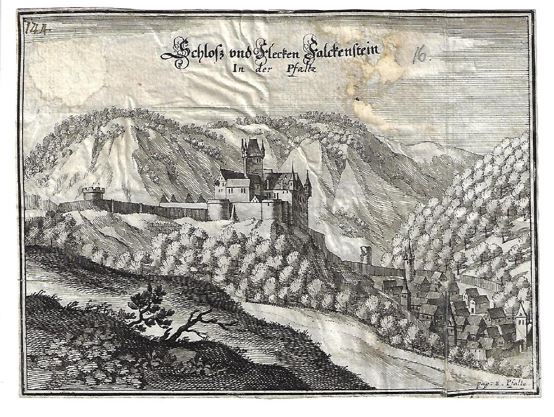 17th C Engraving of German Schloss