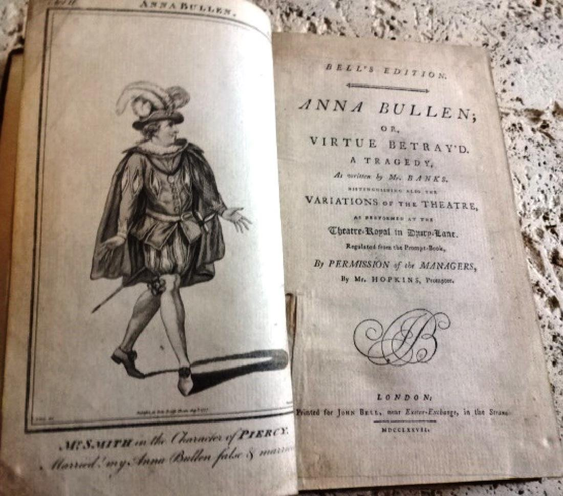 Volume 18th C Plays 1777 Anna Bullen Others