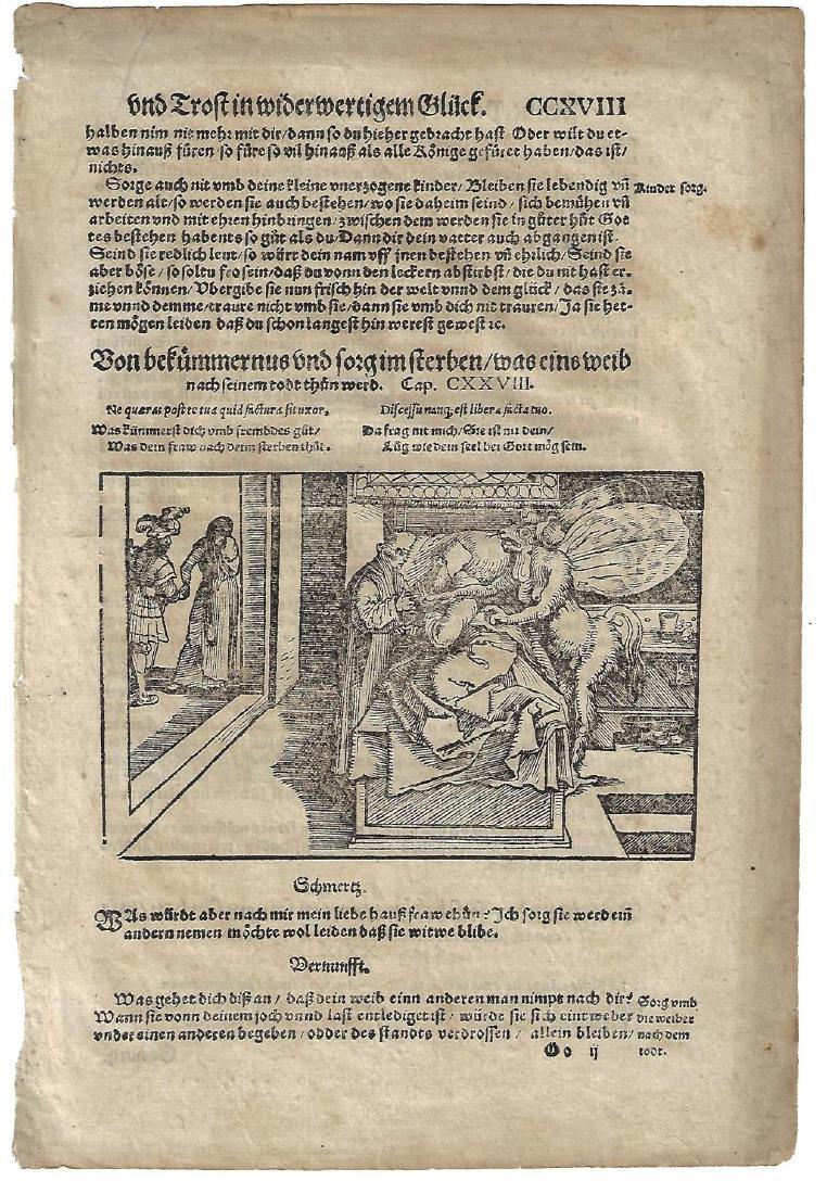 1559 Woodcut Leaf Plutarch