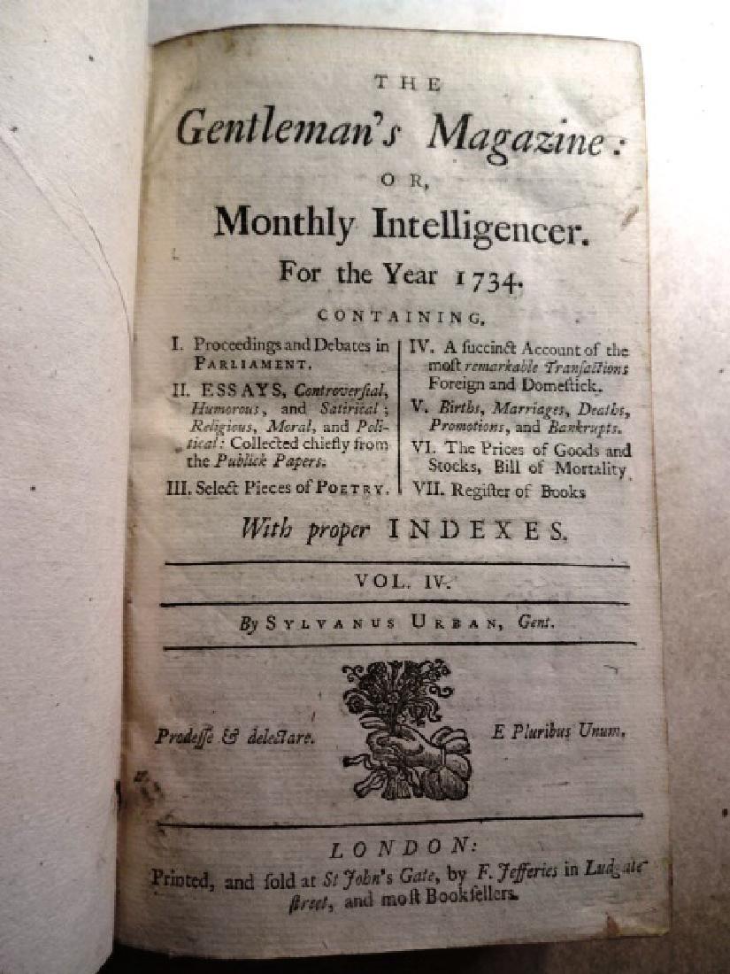 1734 Volume of Gentleman's Magazine