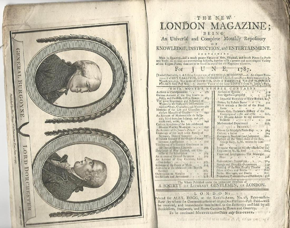 1787 New London Magazine Cook Voyages Plates - 2