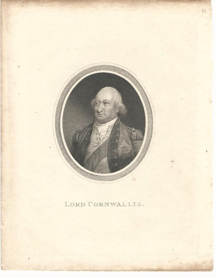 1800 Engraving of Lord Cornwallis