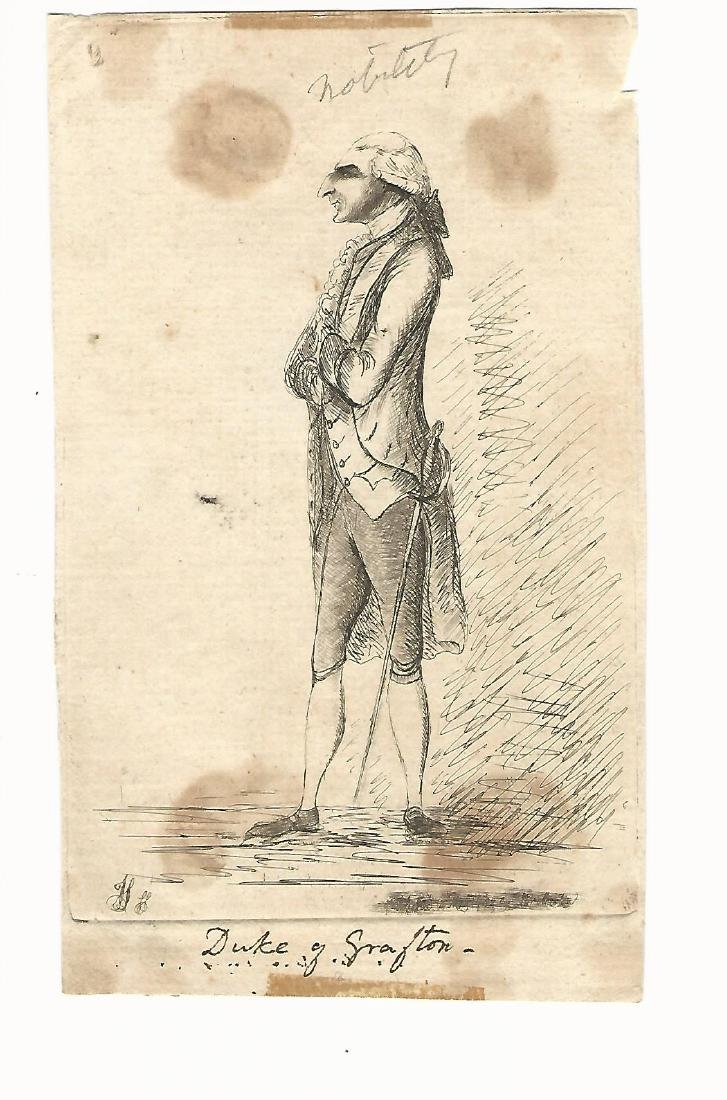 1789 Ink Portrait of Duke of Grafton