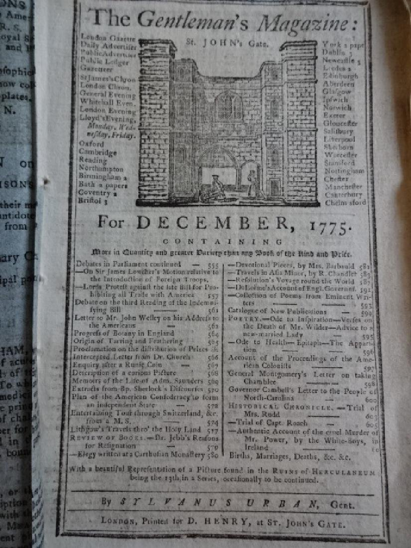 1775 Gentleman's Magazine American Revolution