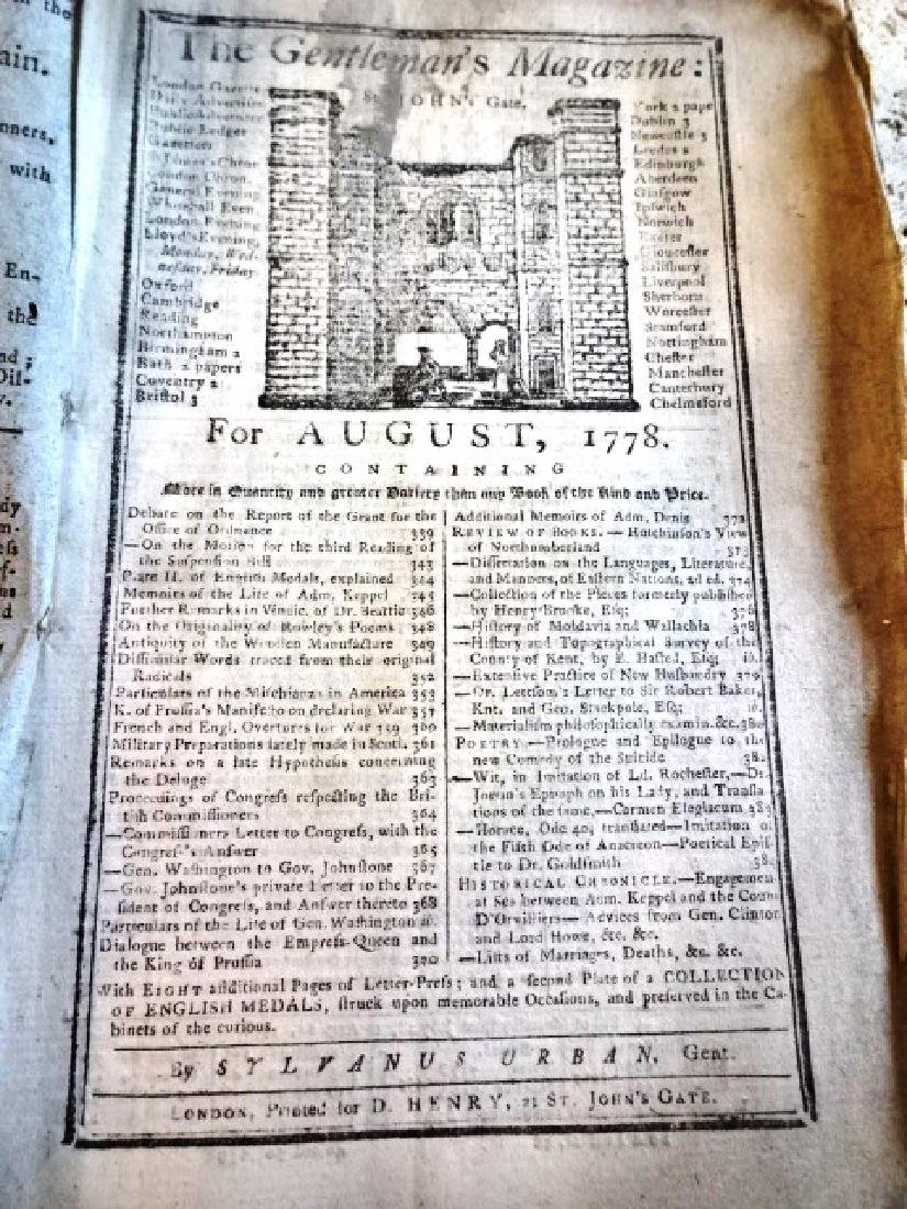 1778 Revolutionary War George Washington Magazine - 2
