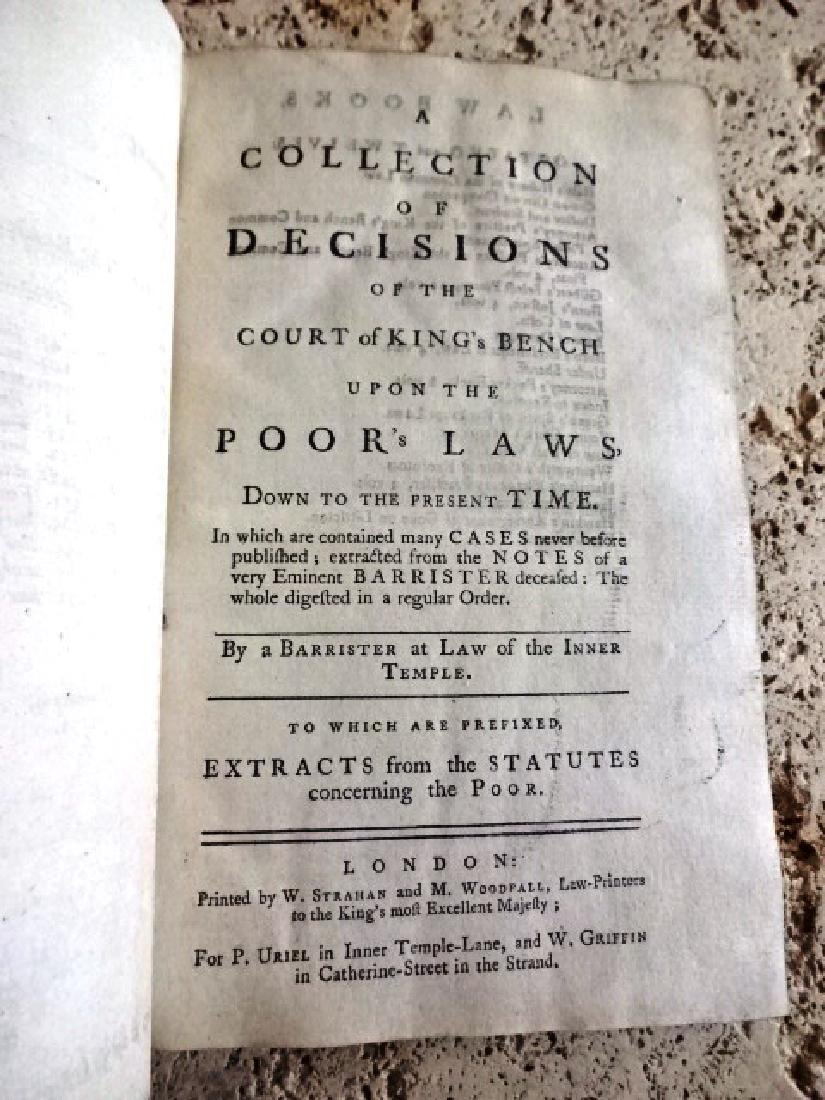 1771 Collection of Decisions Court of King's Poor Laws