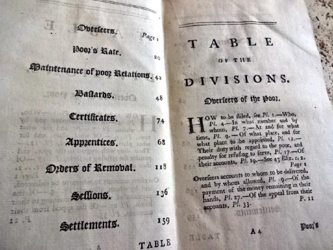 1771 Collection of Decisions Court of King's Poor Laws - 2