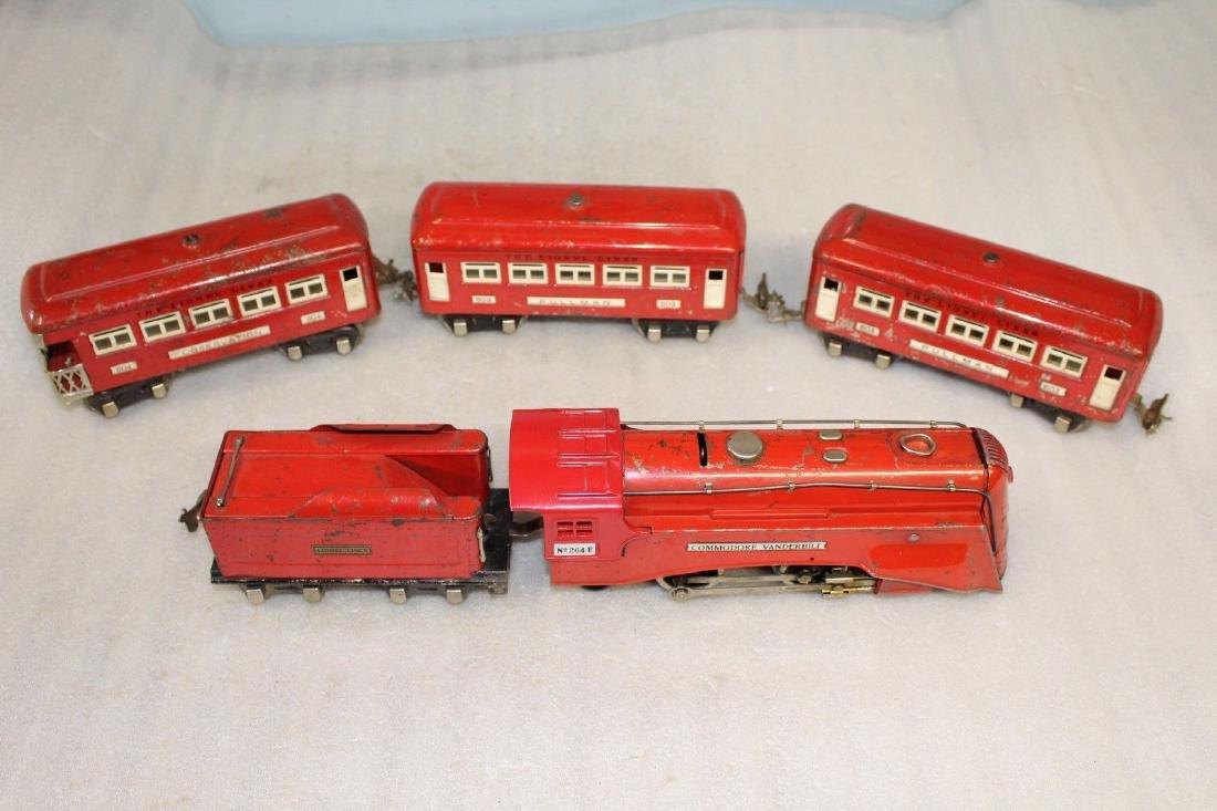 Lionel Prewar #291W The RED COMET - 264E & 603 603 604