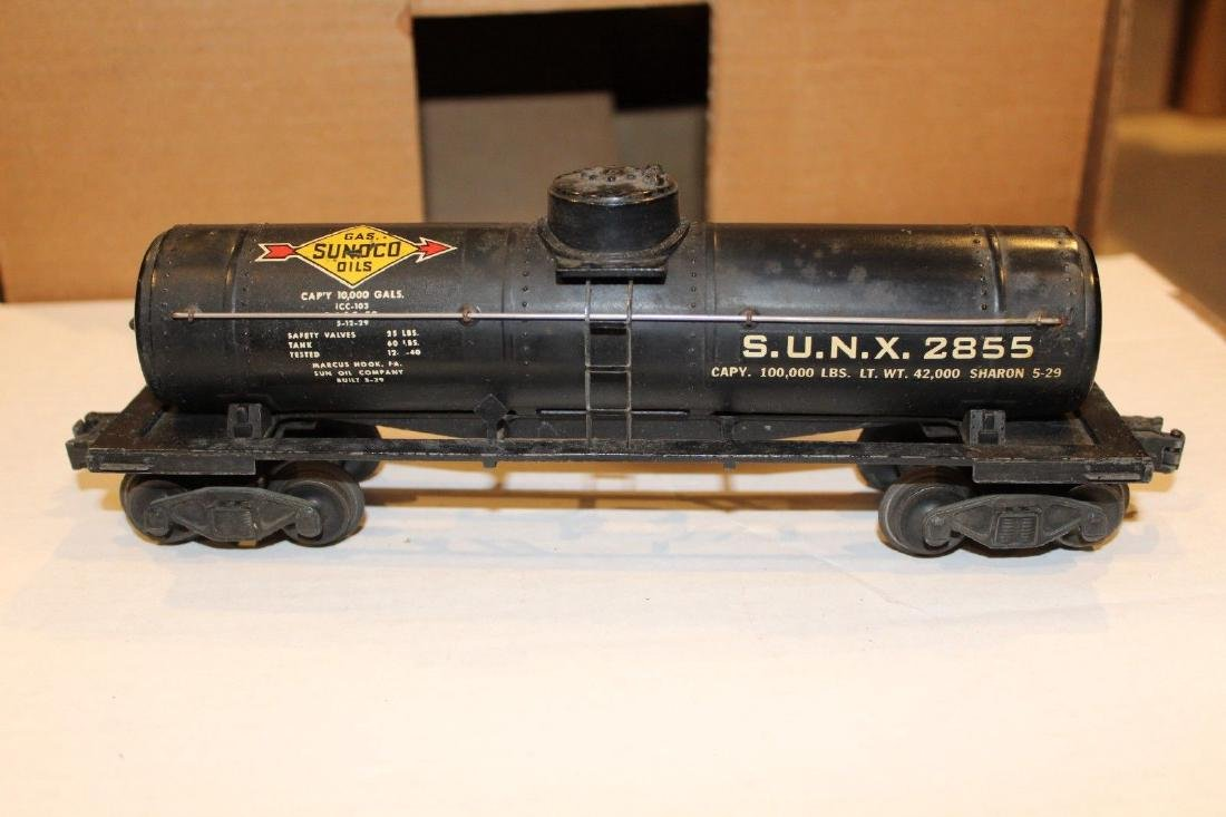Lionel Postwar 2855 Black Sunoco Tank Car
