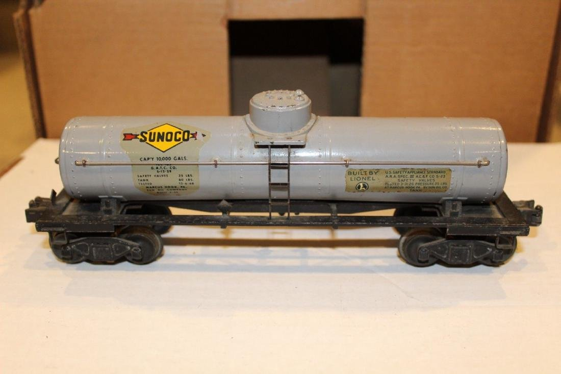Lionel Postwar 2855 Gray Sunoco Tank Car