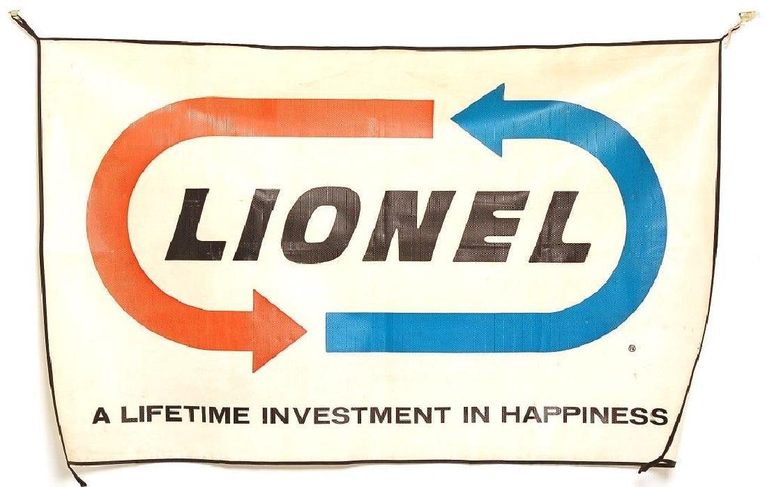 Original Postwar 1966 Lionel Dealer Store Banner