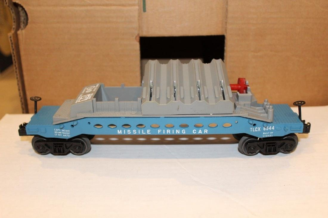 Lionel Postwar 6544 Missile Firing Trail Car MINT