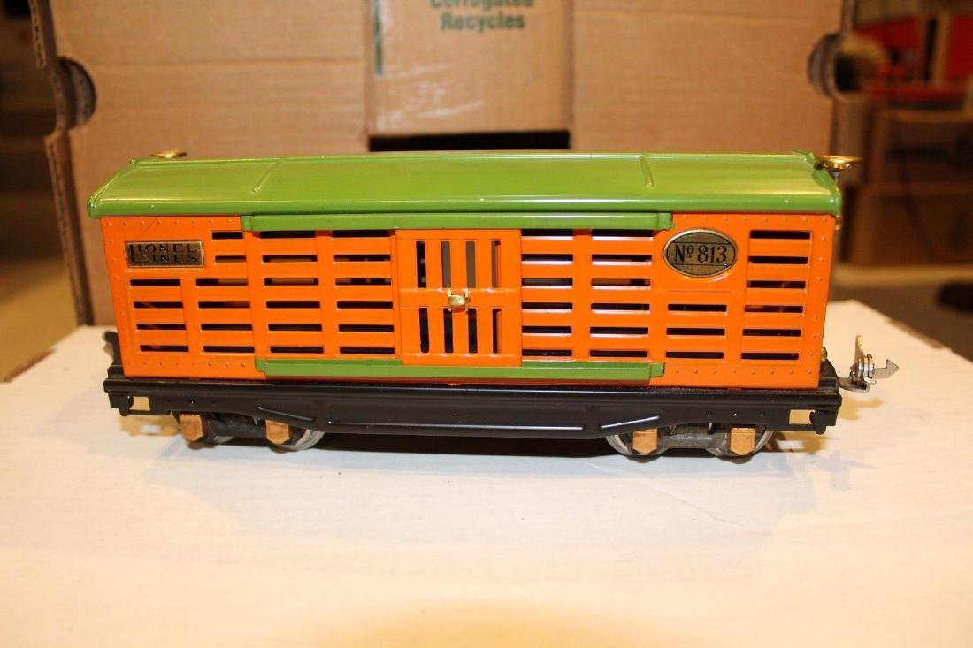 Lionel Prewar 813 Orange & Pea Green Stock Car