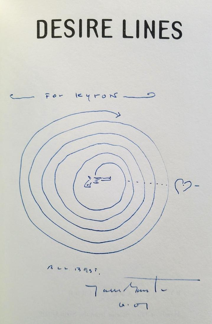 SIGNED, plus drawing! Desire Lines. Jack Gantos. - 2