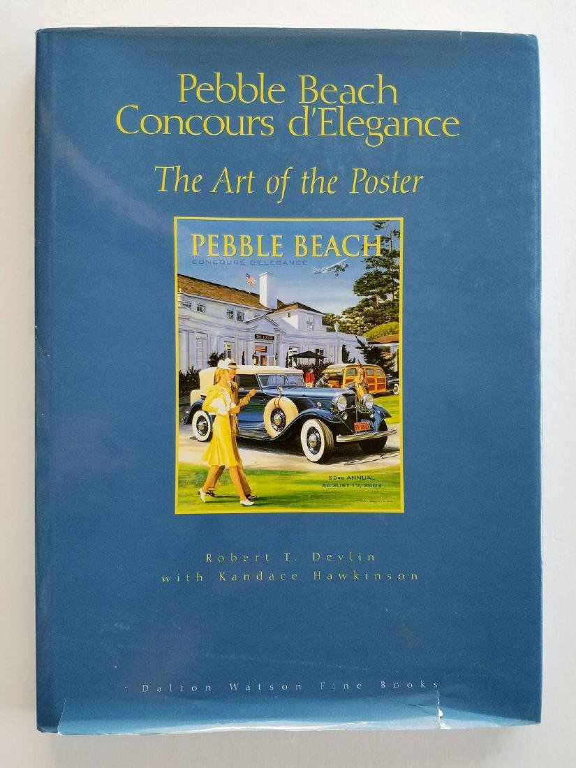 SIGNED - Pebble Beach. Concours d'Elegance. Art Poster