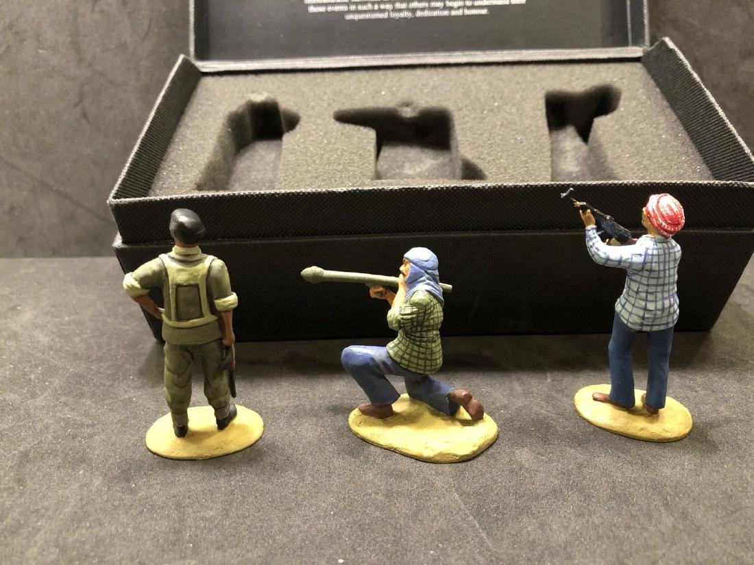 Field Of Conflict Iraqi Infantry With Box. Gulf War - 3