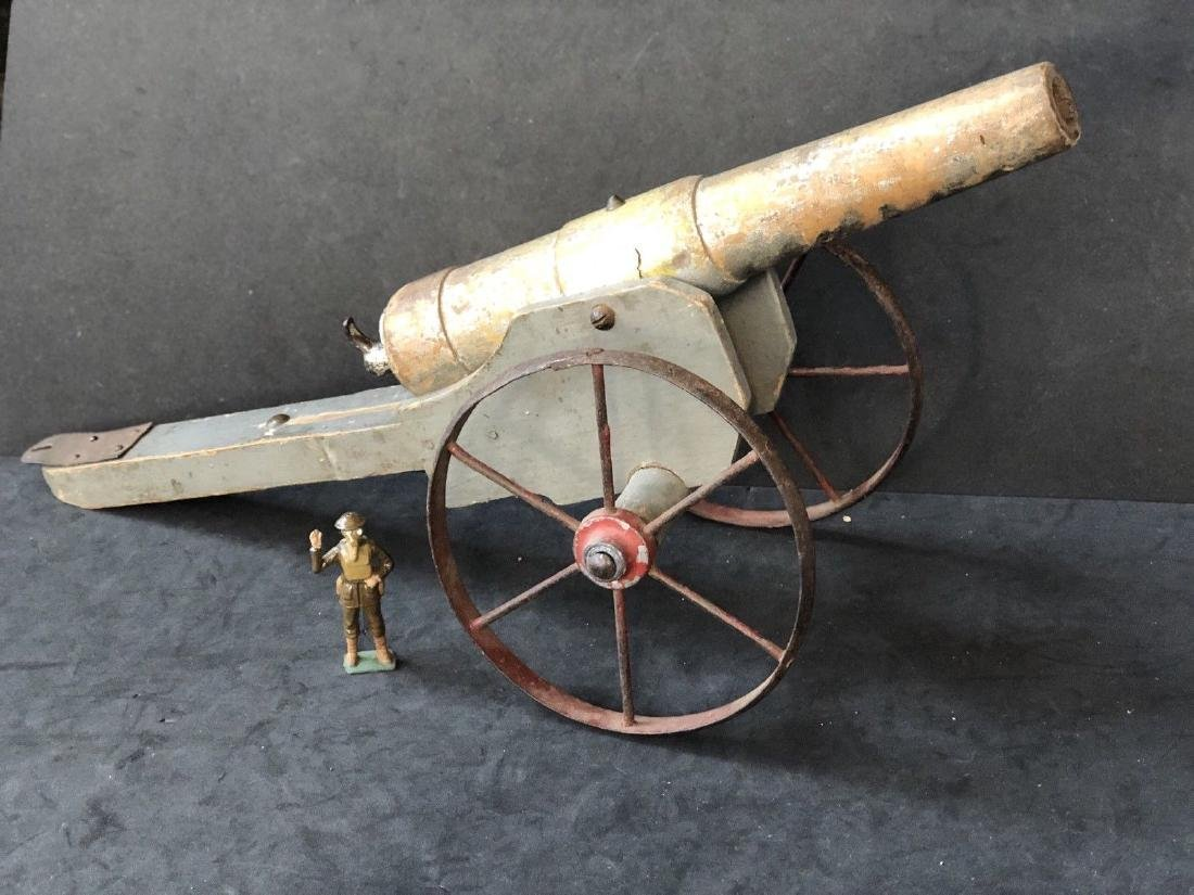 Large French Made Vintage Toy Cannon Circa 1900