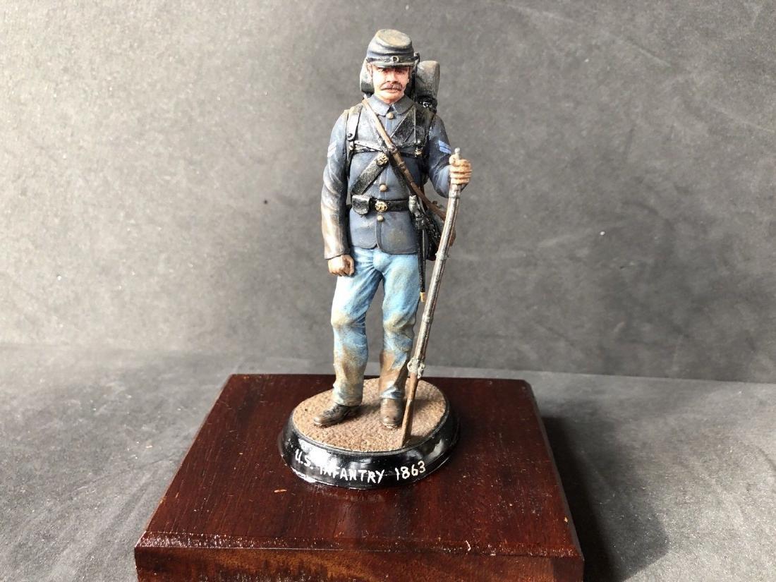 Painted Barton Miniatures Model Of A Union Infanteyman