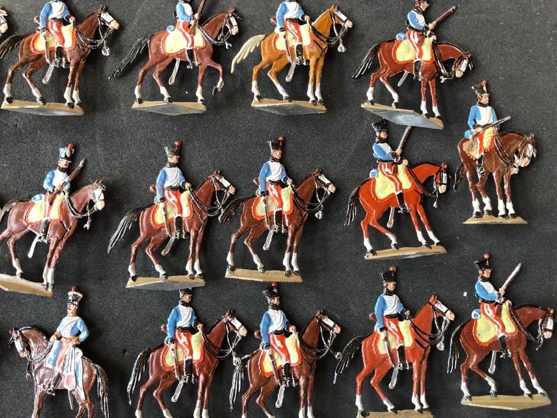 Heinrichsen Flat Tin Figures - Napoleonic Hussars. 30mm - 2