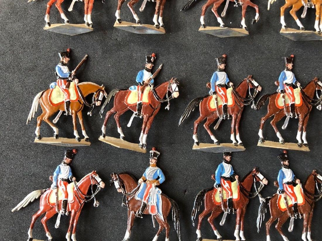 Heinrichsen Flat Tin Figures - Napoleonic Hussars. 30mm - 3
