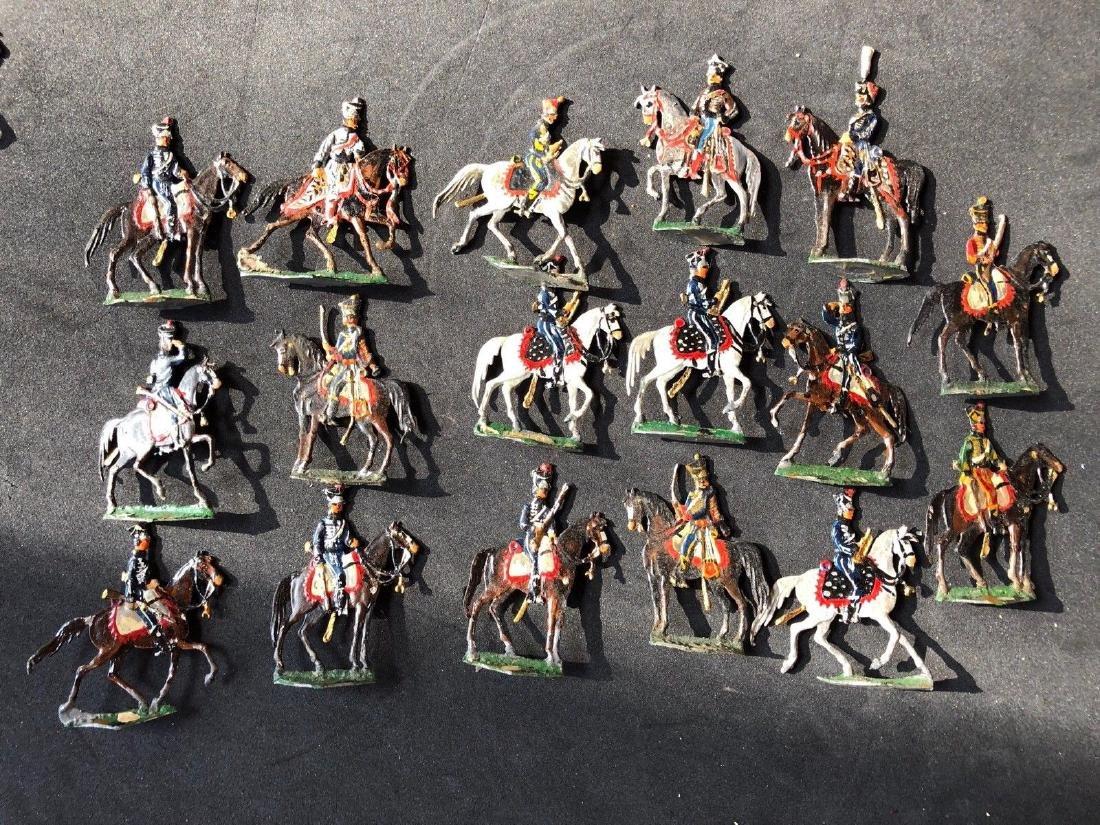 Heinrichsen Flat Tin Figures - Napoleonic Hussars. 30mm