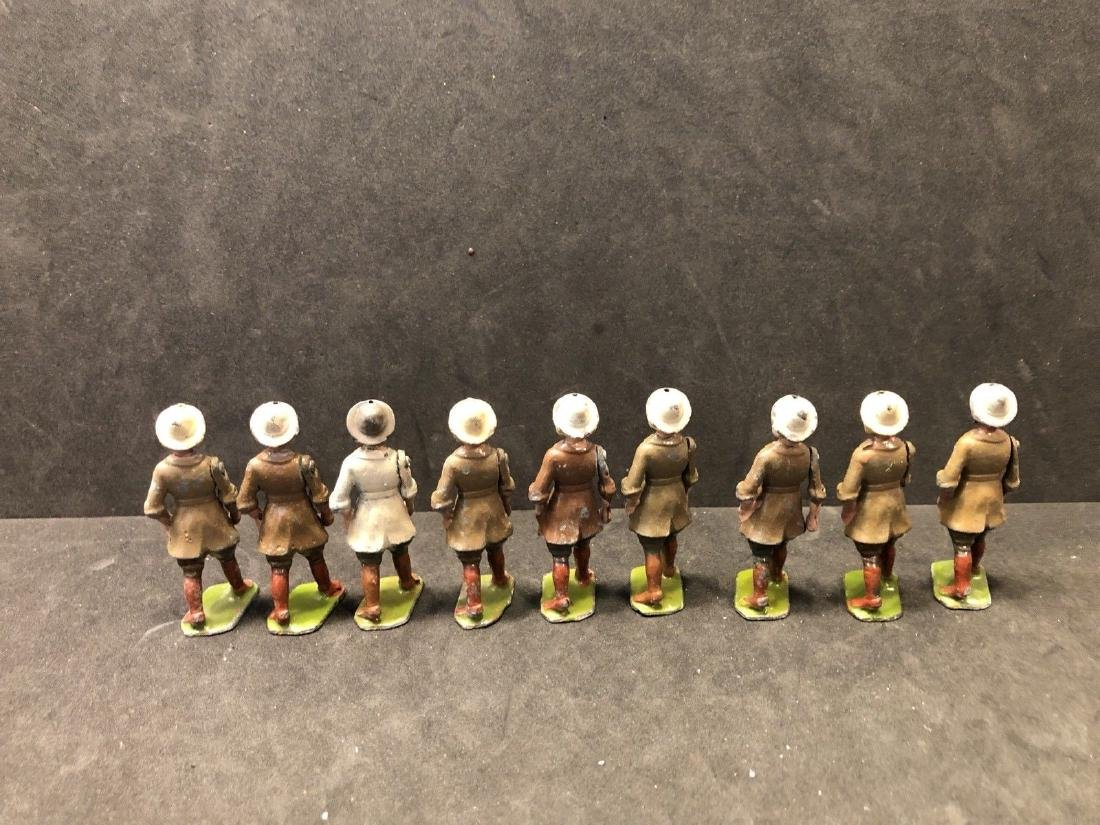 Britains From Set 535 Land Girls Various Colors Pre War - 6