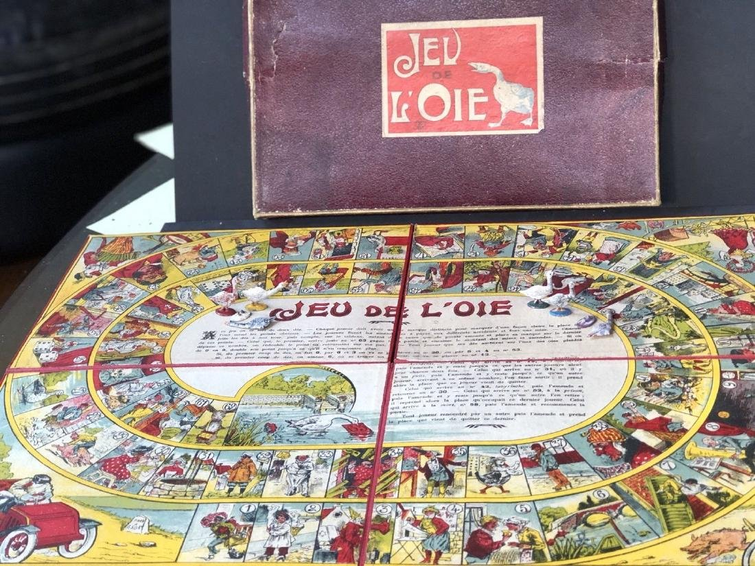 "Early French Board Game In Box ""Jeu De L'Oie"" C 1910"