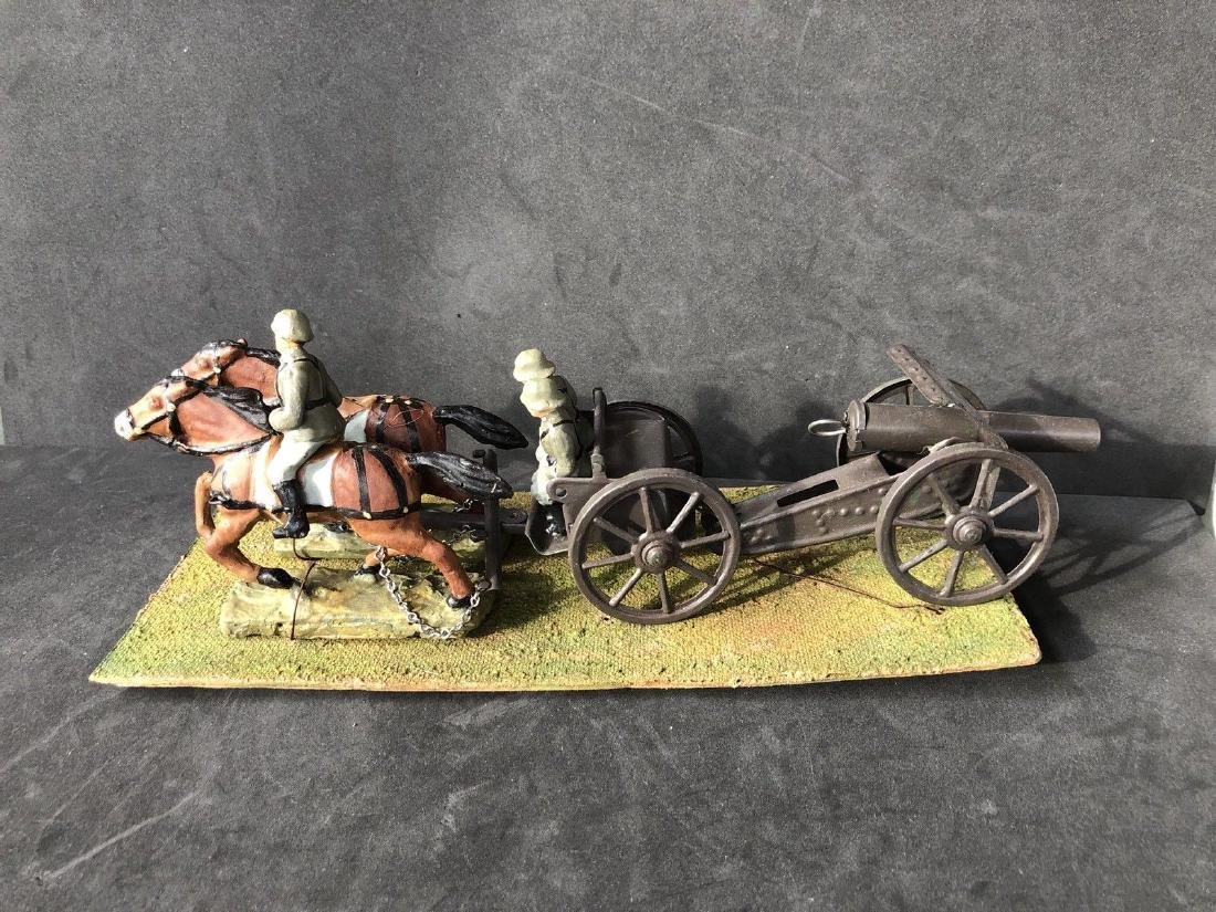 Hausser Pre War Horse Drawn Canon And Limber