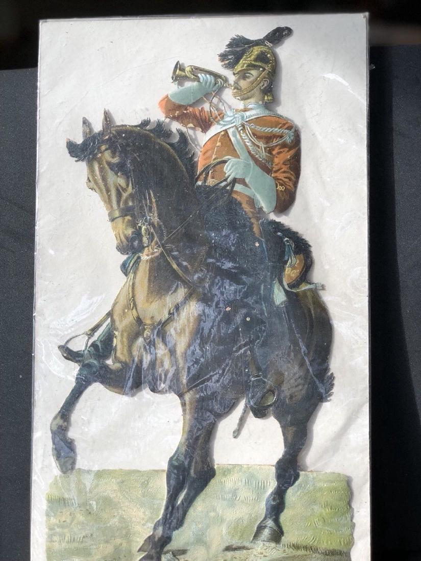 Paper Soldier: Large Victorian British Scrap Circa 1900