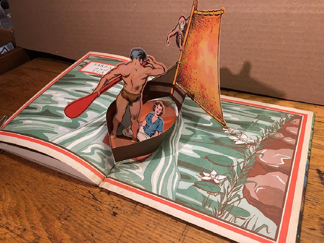 First Edition 1935 Tarzan Pop-up Book - 2