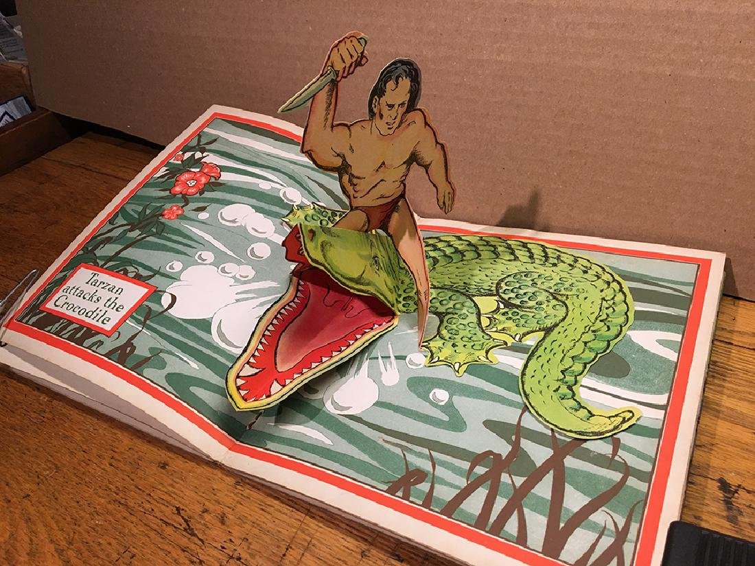 First Edition 1935 Tarzan Pop-up Book - 3