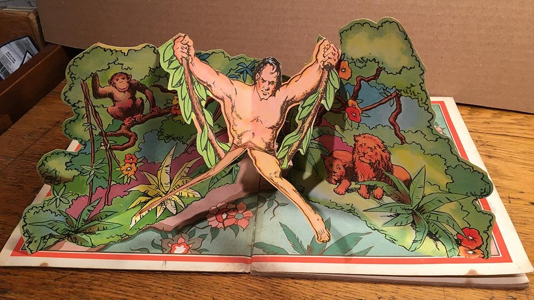 First Edition 1935 Tarzan Pop-up Book - 5