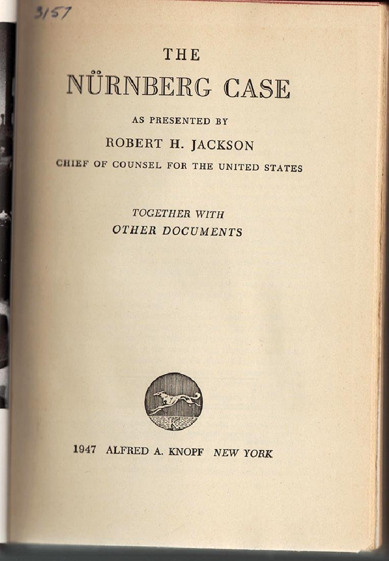 "1947 First Edition Review Copy ""The Nurnberg Case"" - 2"