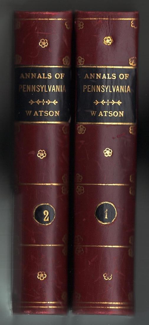 1850 Annals Philadelphia Pennsylvania Olden Time 2 Vols