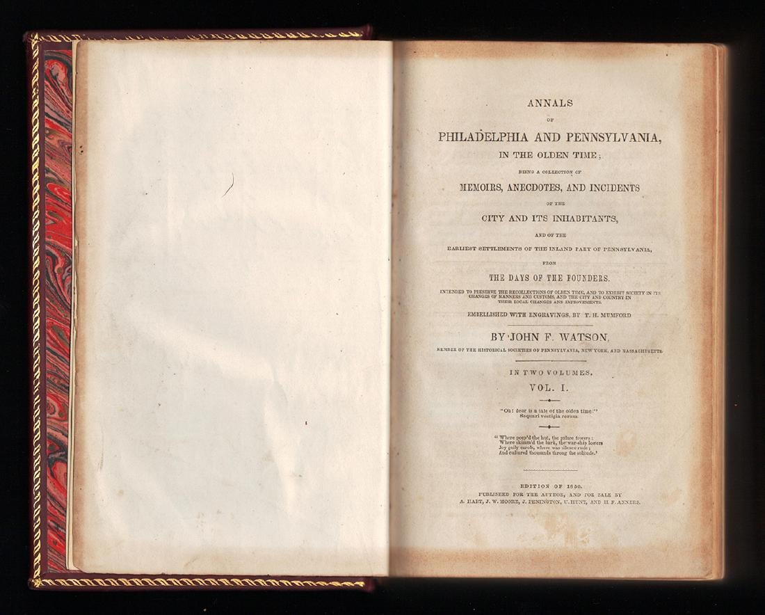 1850 Annals Philadelphia Pennsylvania Olden Time 2 Vols - 3