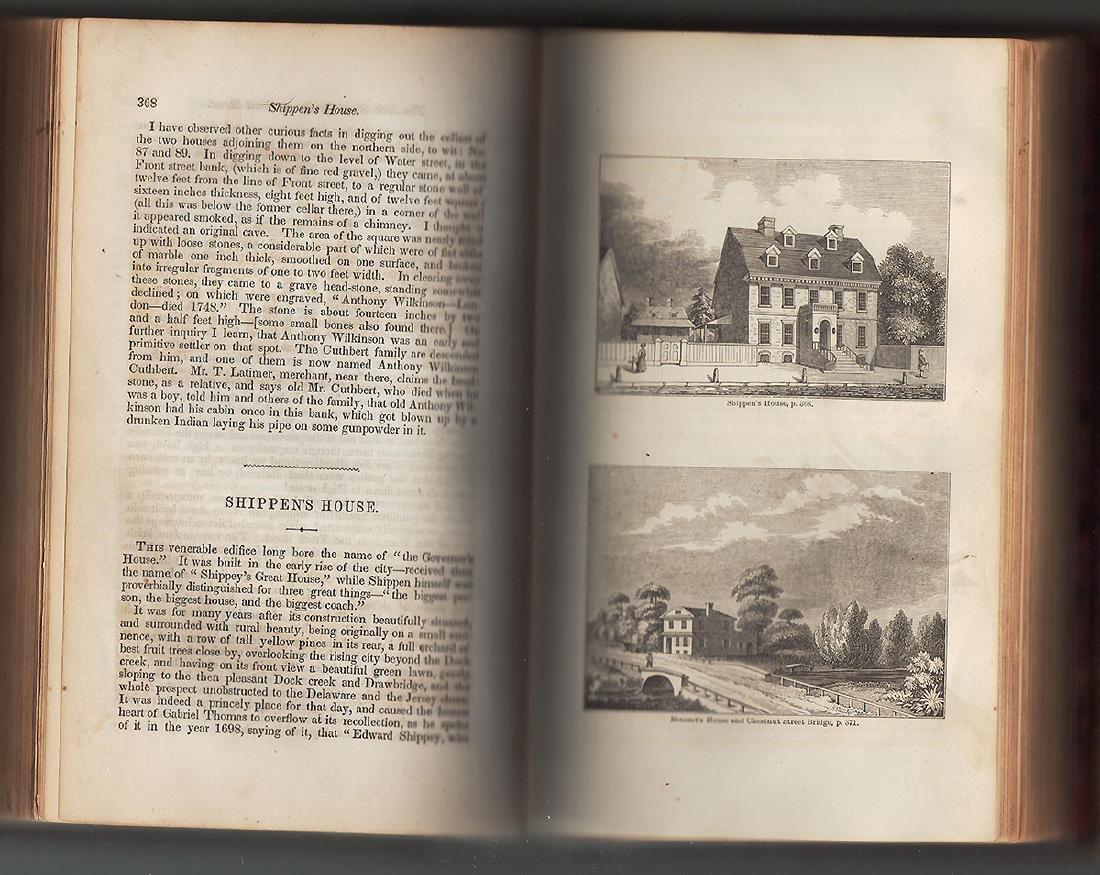 1850 Annals Philadelphia Pennsylvania Olden Time 2 Vols - 4