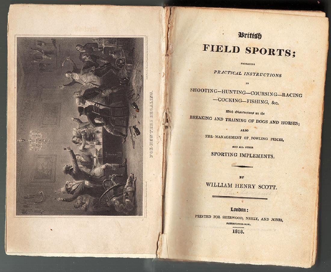 1818 First Edition. British Field Sports; Instructions
